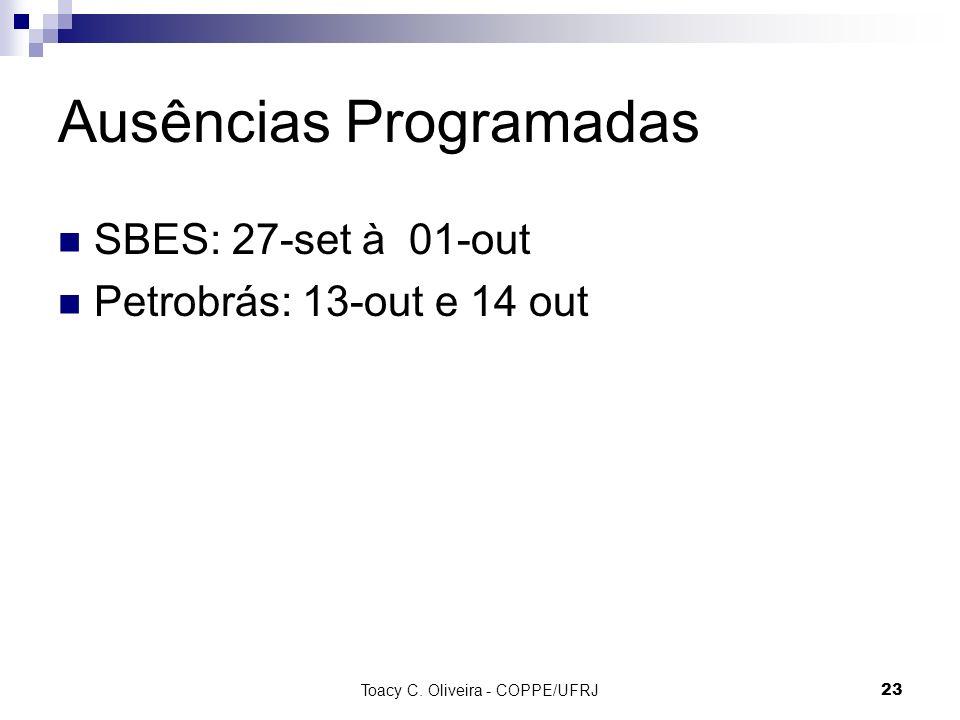 Ausências Programadas