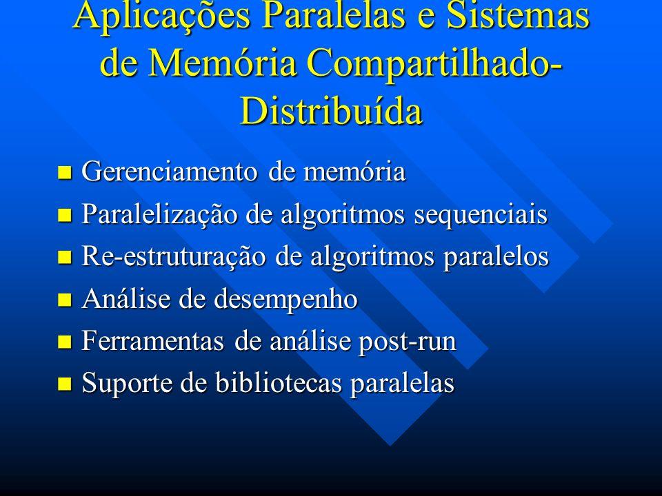 Aplicações Paralelas e Sistemas de Memória Compartilhado-Distribuída
