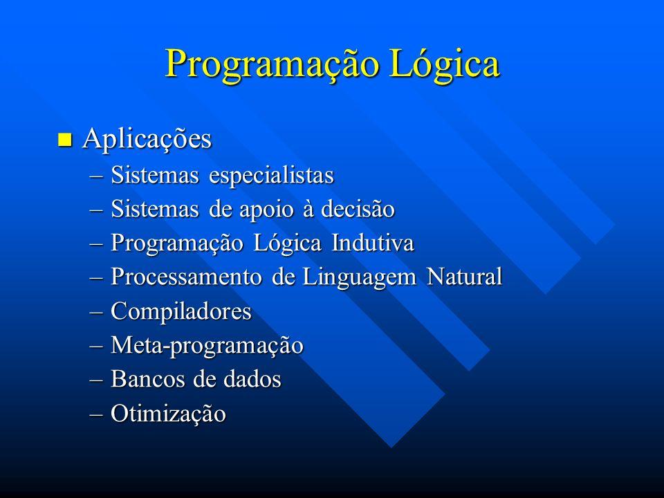 Programação Lógica Aplicações Sistemas especialistas