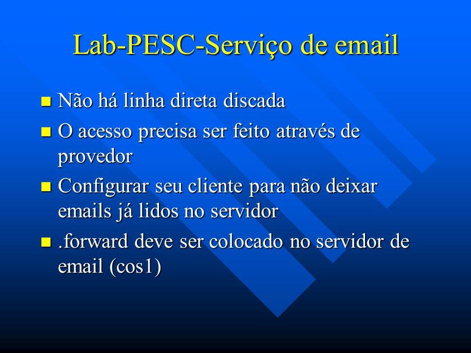 Lab-PESC-Serviço de email