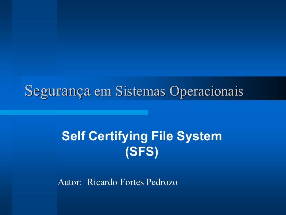 Segurança em Sistemas Operacionais