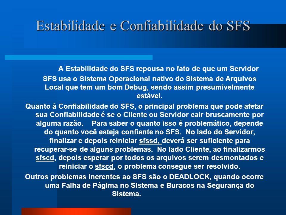 Estabilidade e Confiabilidade do SFS