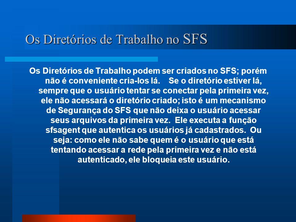 Os Diretórios de Trabalho no SFS