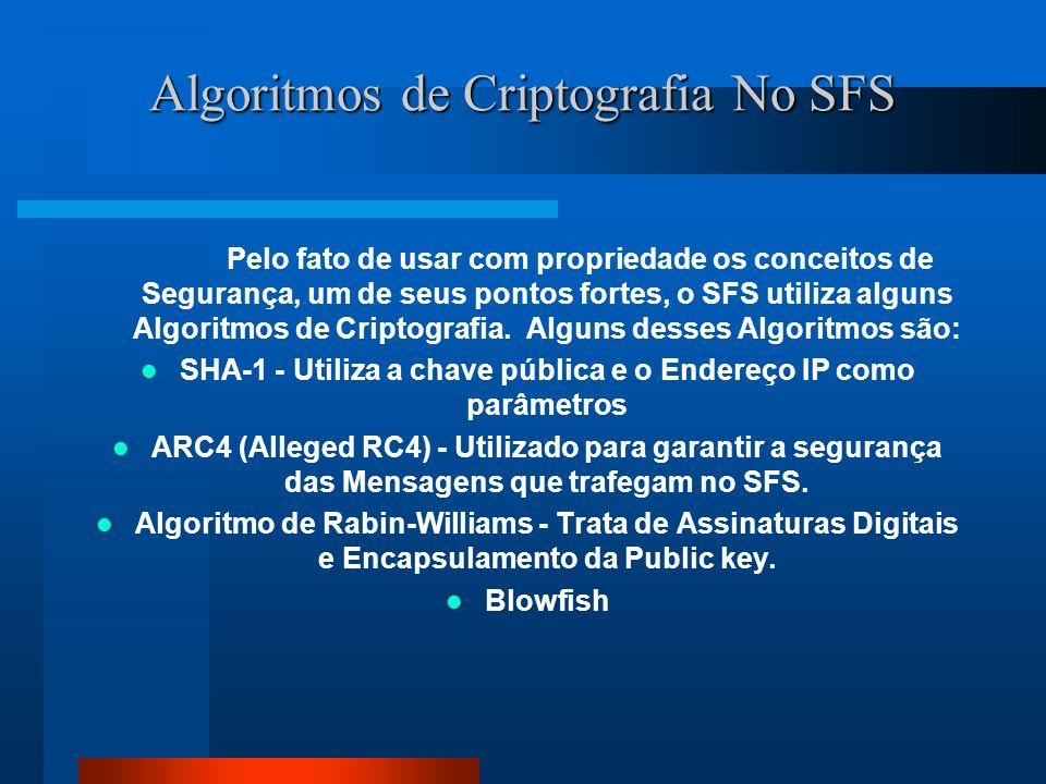 Algoritmos de Criptografia No SFS
