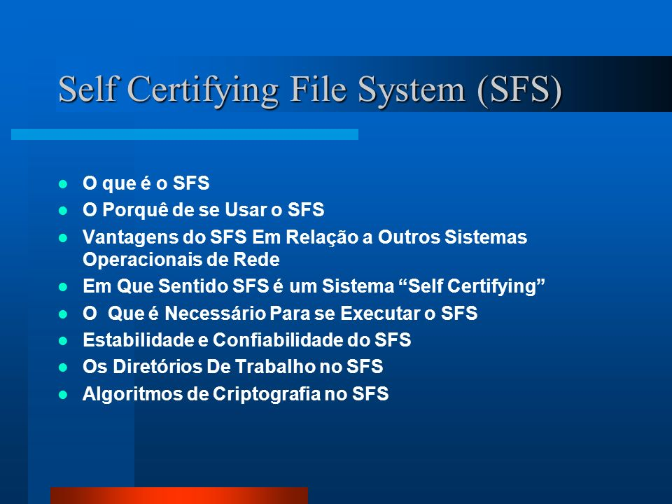 Self Certifying File System (SFS)