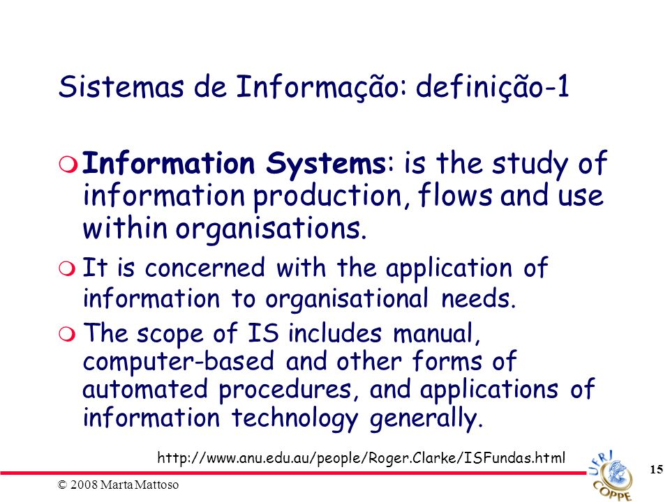 Sistemas de Informação: definição-1