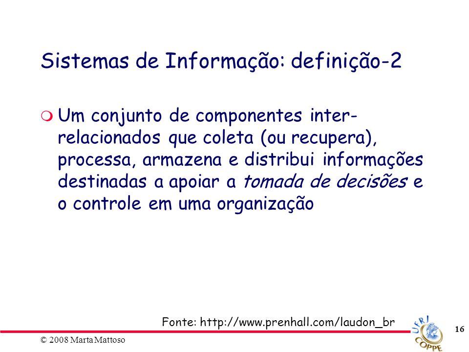 Sistemas de Informação: definição-2