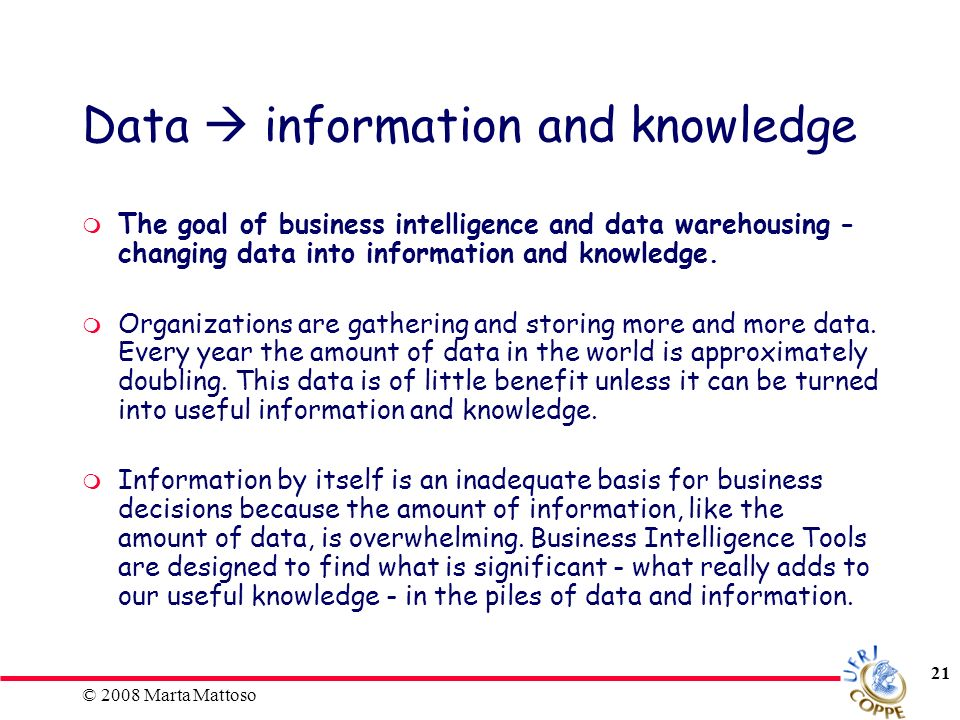 Data  information and knowledge