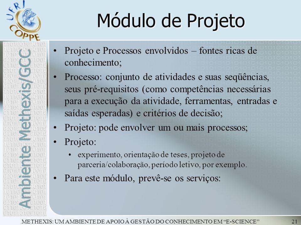 Módulo de Projeto Ambiente Methexis/GCC