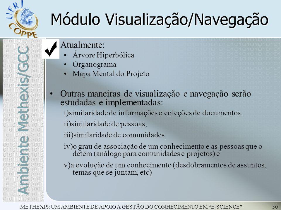 Módulo Visualização/Navegação