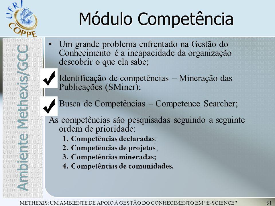 Módulo Competência Ambiente Methexis/GCC