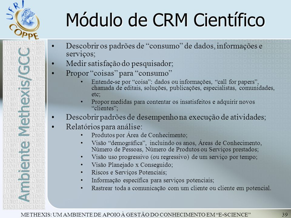 Módulo de CRM Científico