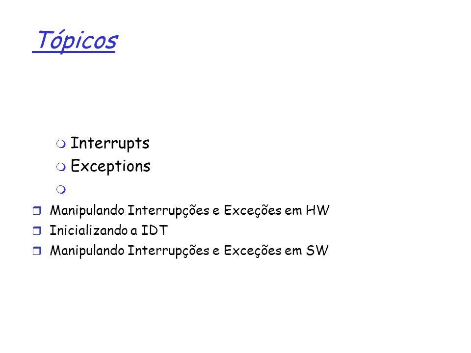 Tópicos Interrupts Exceptions