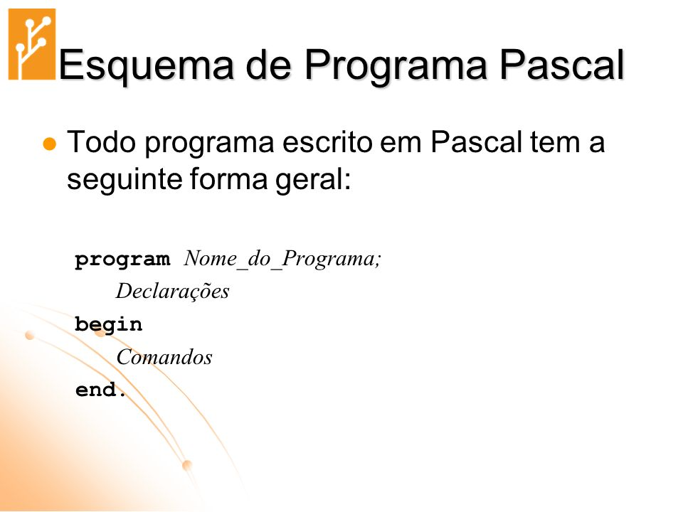 Esquema de Programa Pascal