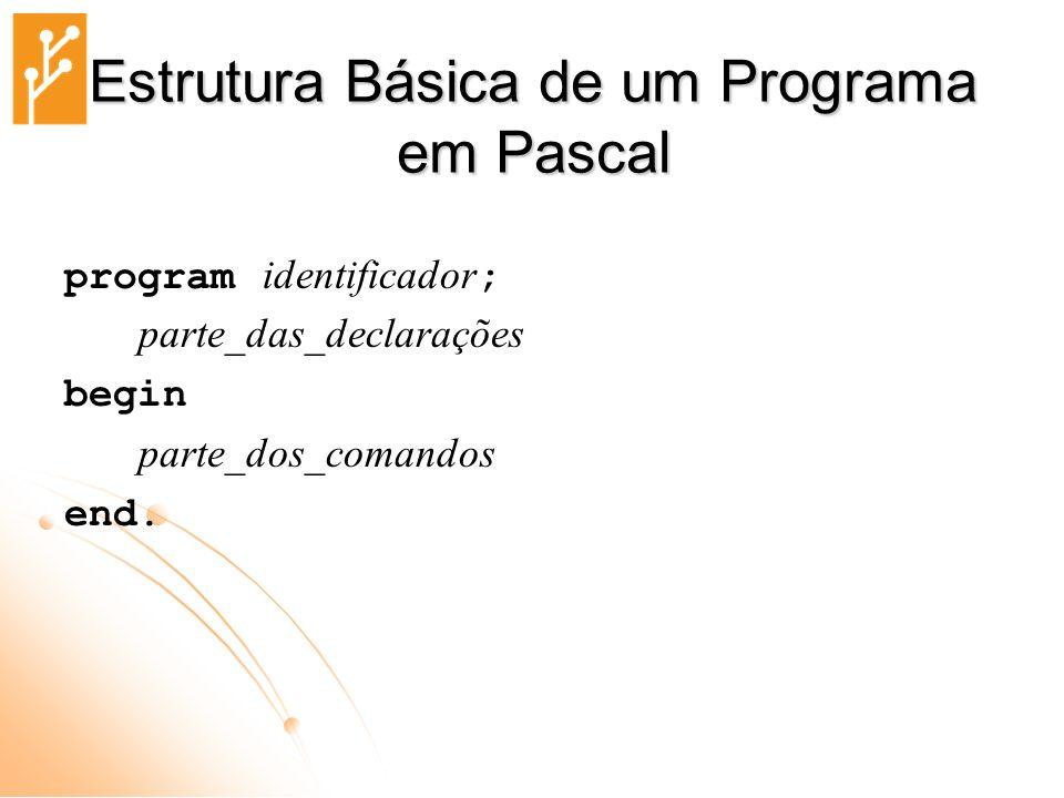 Estrutura Básica de um Programa em Pascal