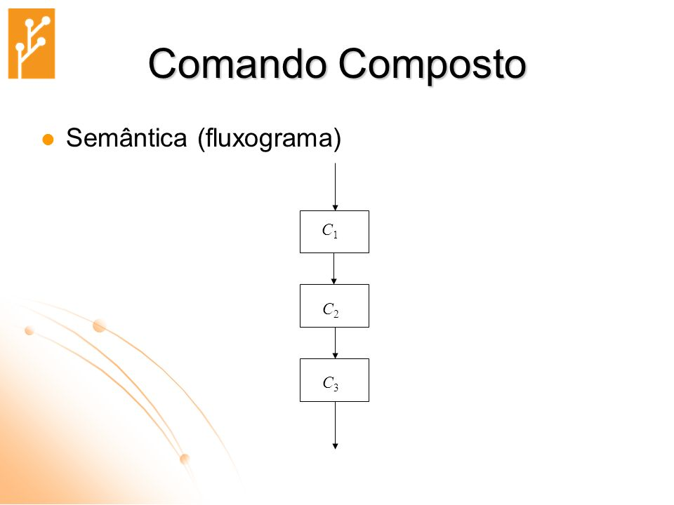 Comando Composto Semântica (fluxograma) C1 C2 C3