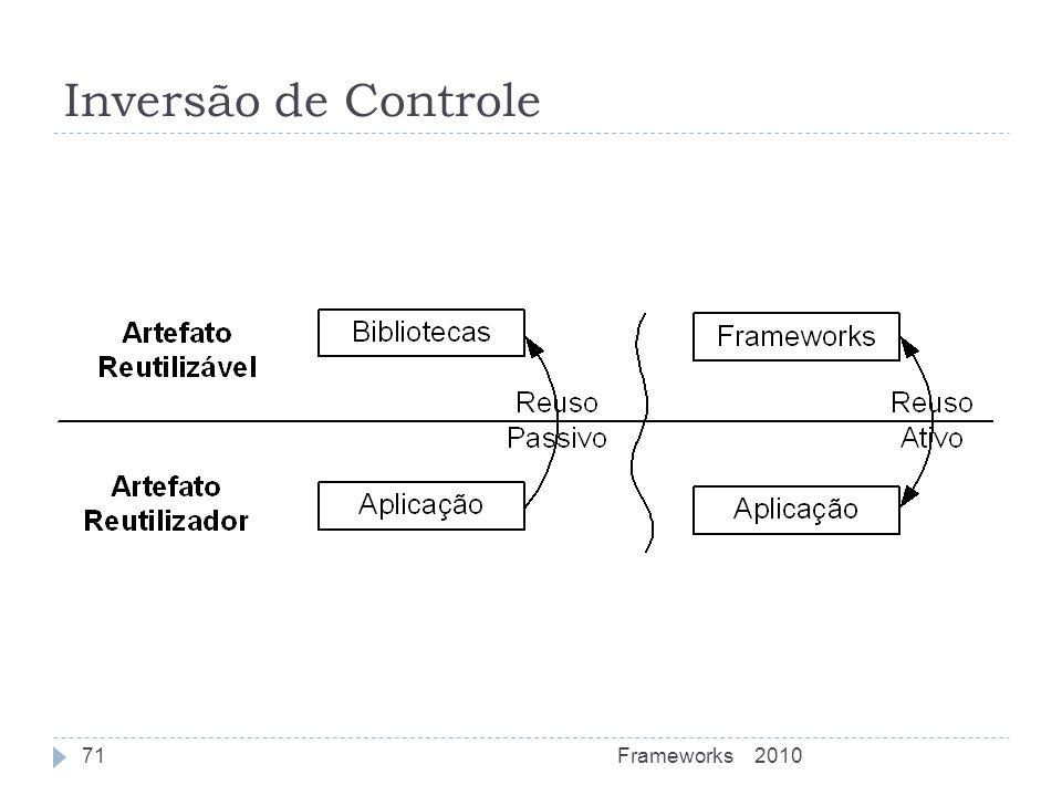 Inversão de Controle Frameworks 2010