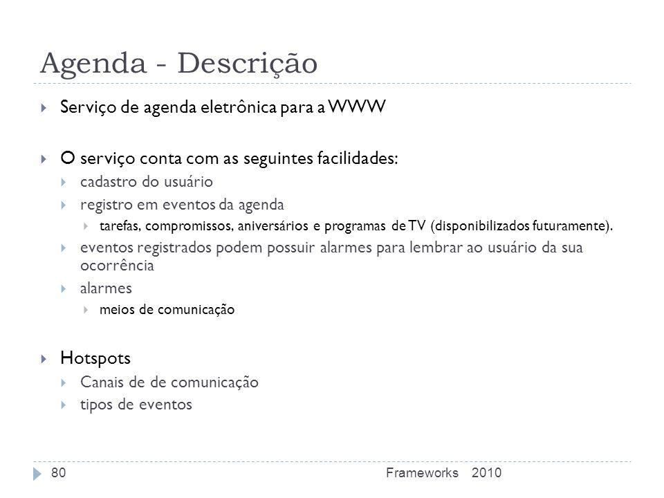 Agenda - Descrição Serviço de agenda eletrônica para a WWW