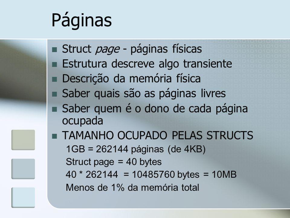 Páginas Struct page - páginas físicas