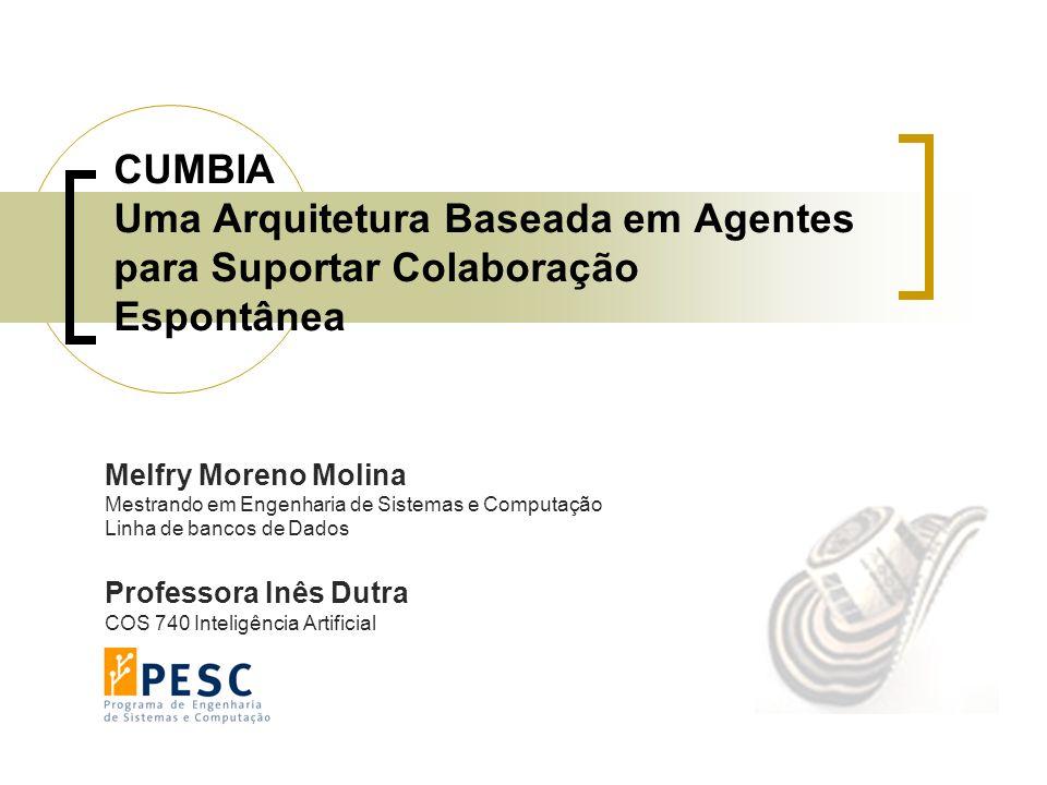 CUMBIA Uma Arquitetura Baseada em Agentes para Suportar Colaboração Espontânea