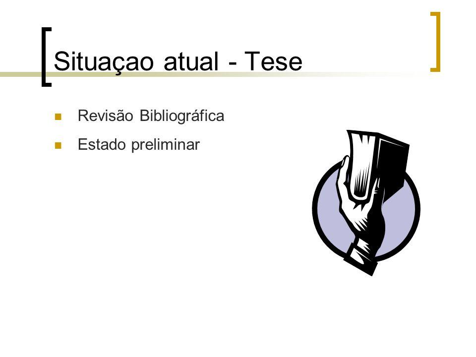 Situaçao atual - Tese Revisão Bibliográfica Estado preliminar