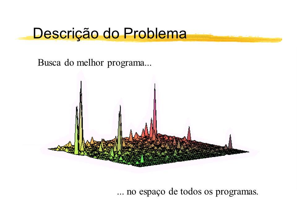 Descrição do Problema Busca do melhor programa...