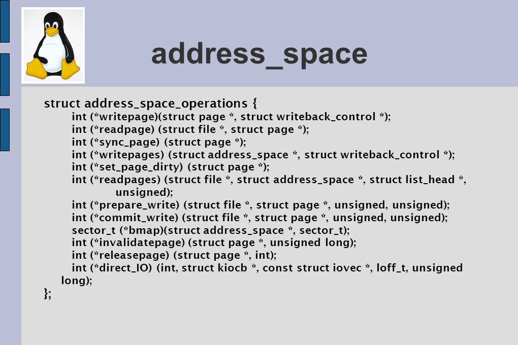 address_space struct address_space_operations { };