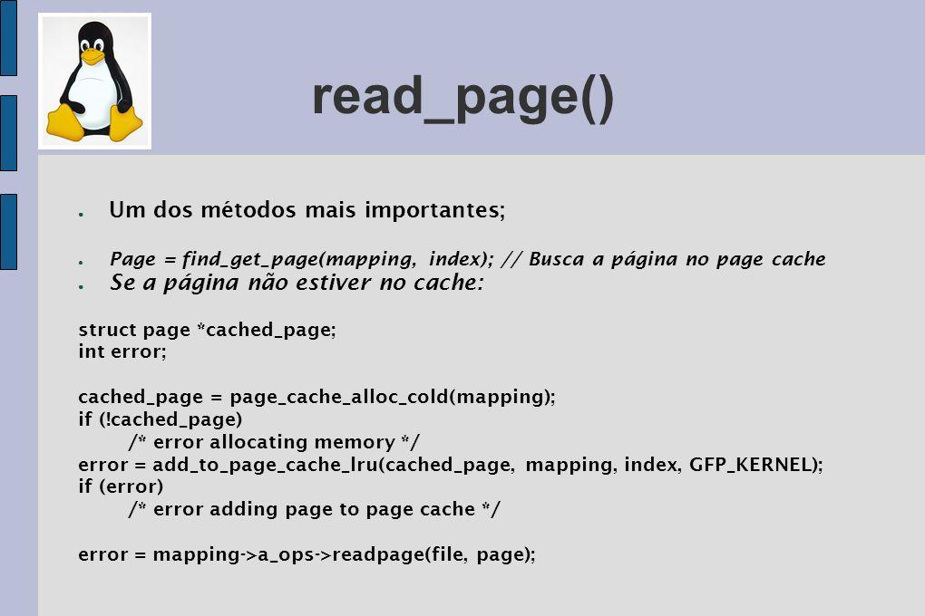 read_page() Um dos métodos mais importantes;