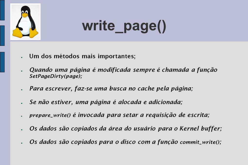 write_page() Um dos métodos mais importantes;