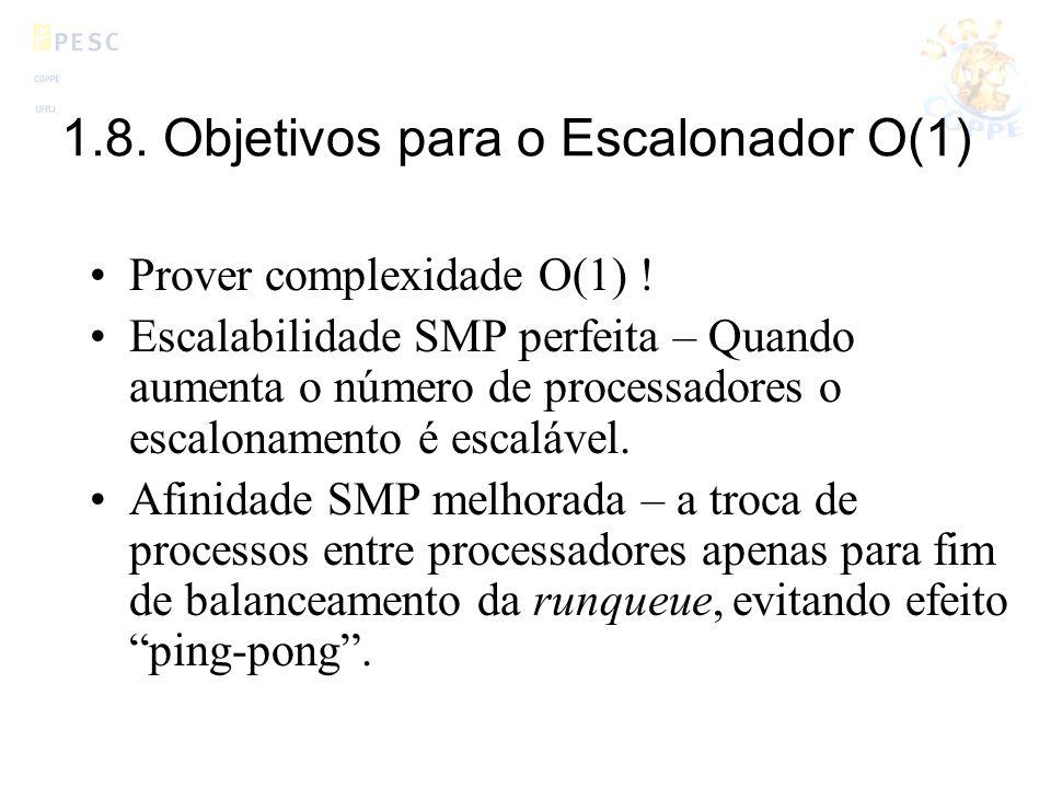 1.8. Objetivos para o Escalonador O(1)