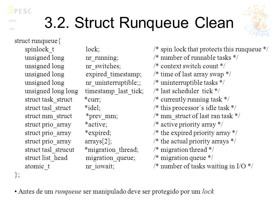 3.2. Struct Runqueue Clean struct runqueue{