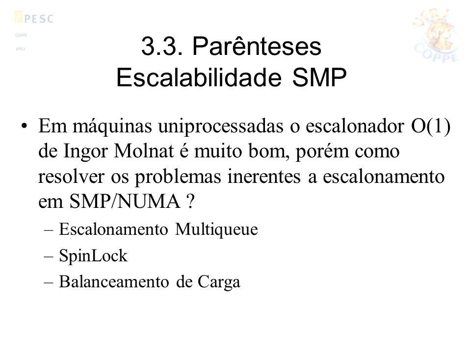 3.3. Parênteses Escalabilidade SMP