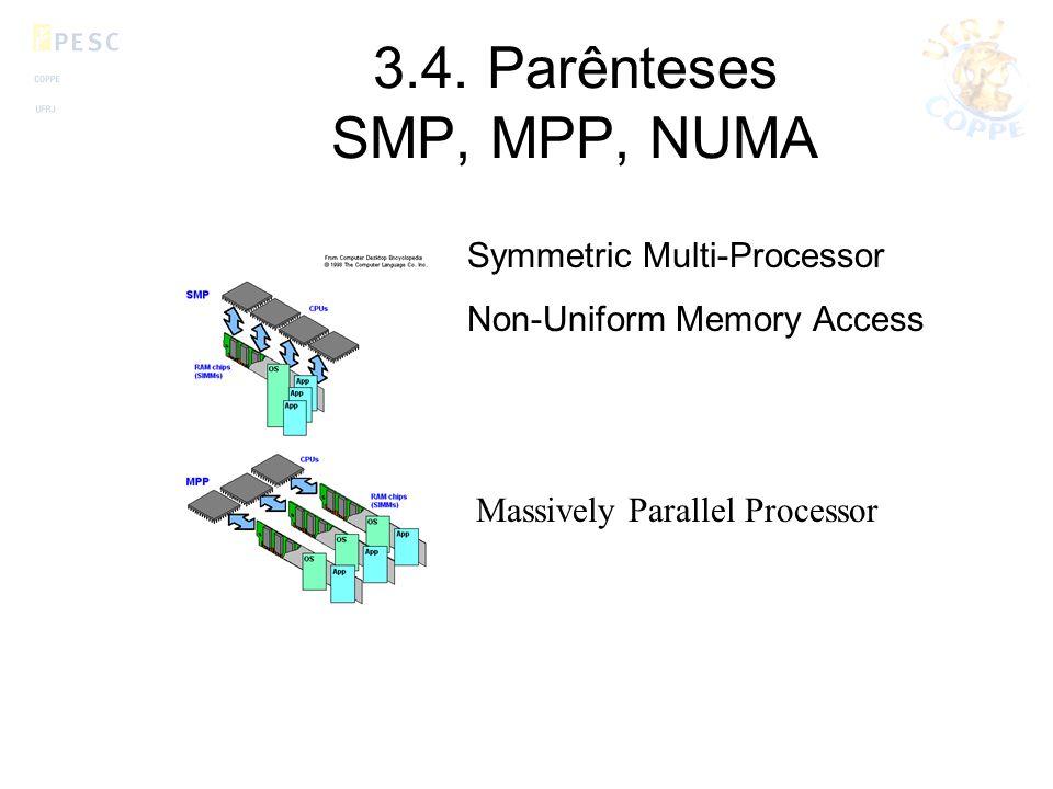 3.4. Parênteses SMP, MPP, NUMA