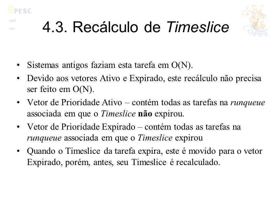 4.3. Recálculo de Timeslice
