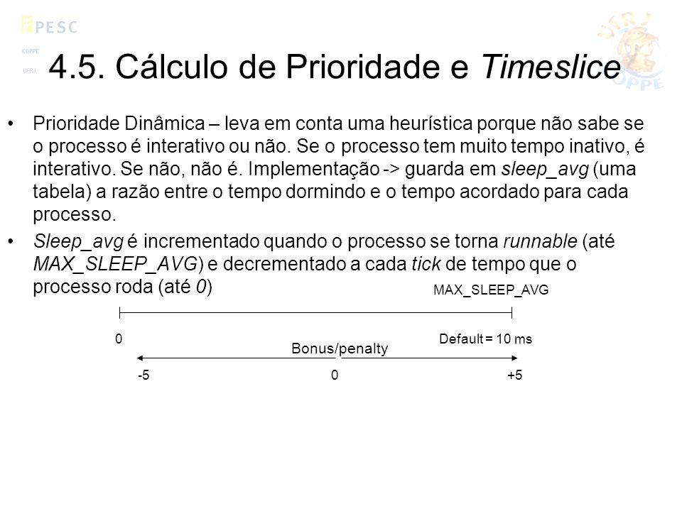 4.5. Cálculo de Prioridade e Timeslice