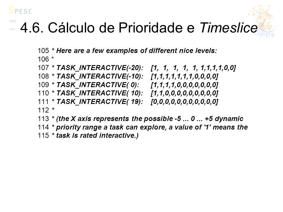 4.6. Cálculo de Prioridade e Timeslice