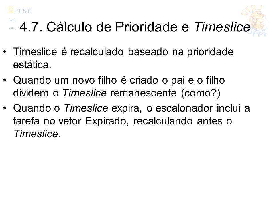 4.7. Cálculo de Prioridade e Timeslice