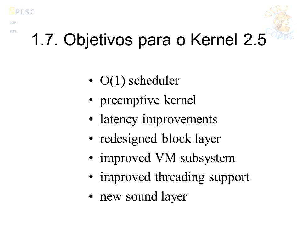1.7. Objetivos para o Kernel 2.5