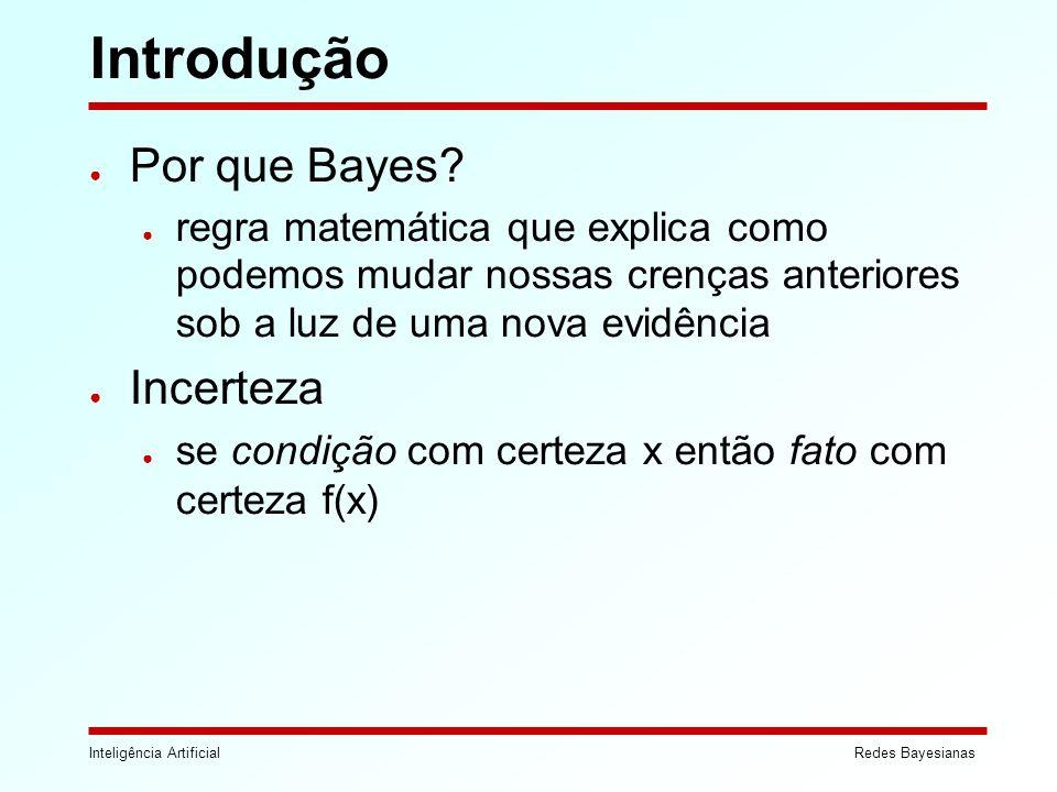 Introdução Por que Bayes Incerteza