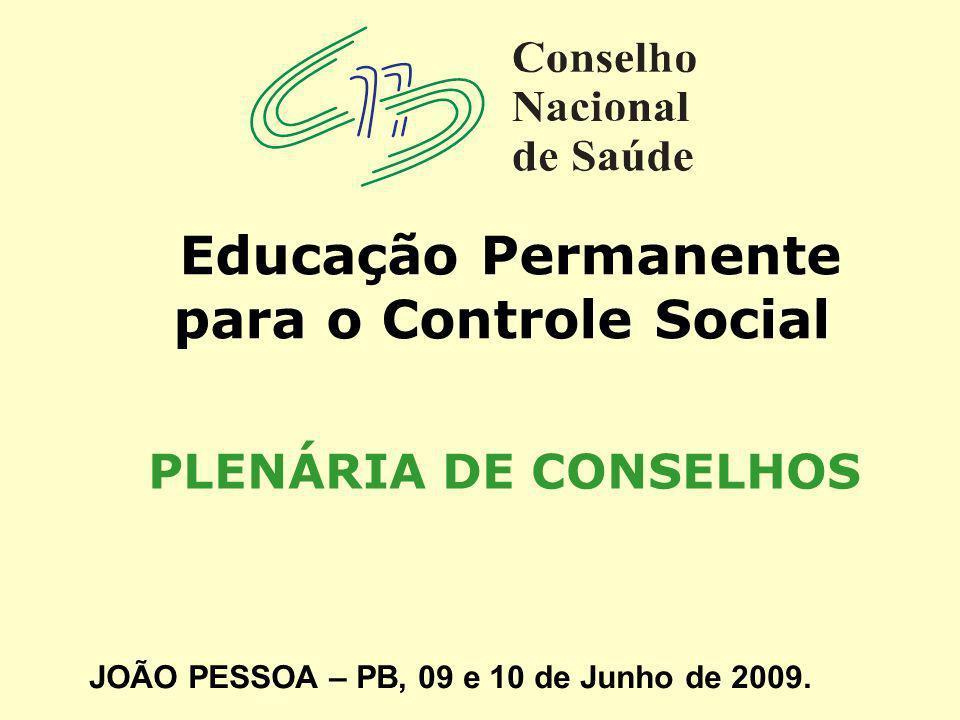 Educação Permanente para o Controle Social