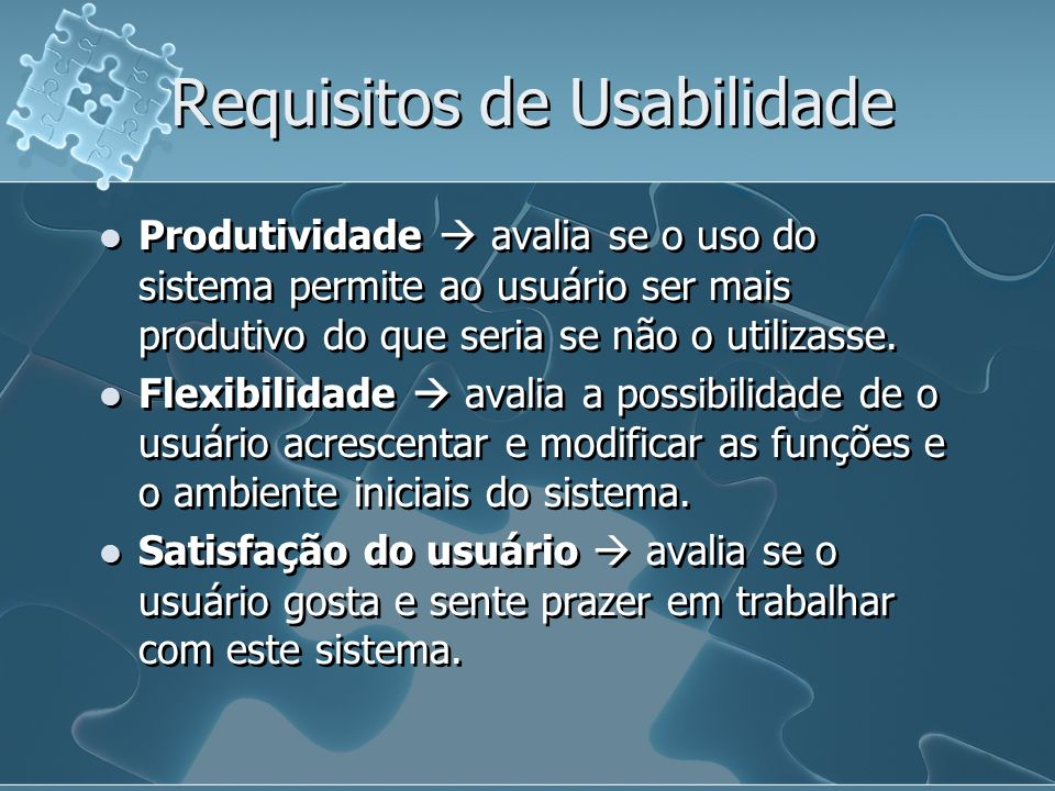 Requisitos de Usabilidade