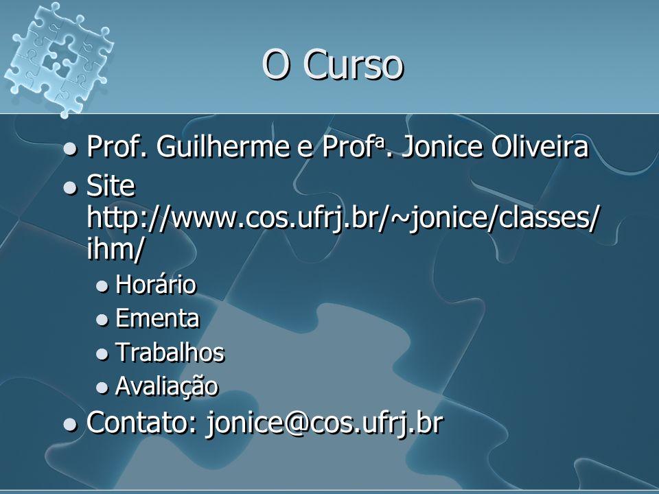 O Curso Prof. Guilherme e Profa. Jonice Oliveira