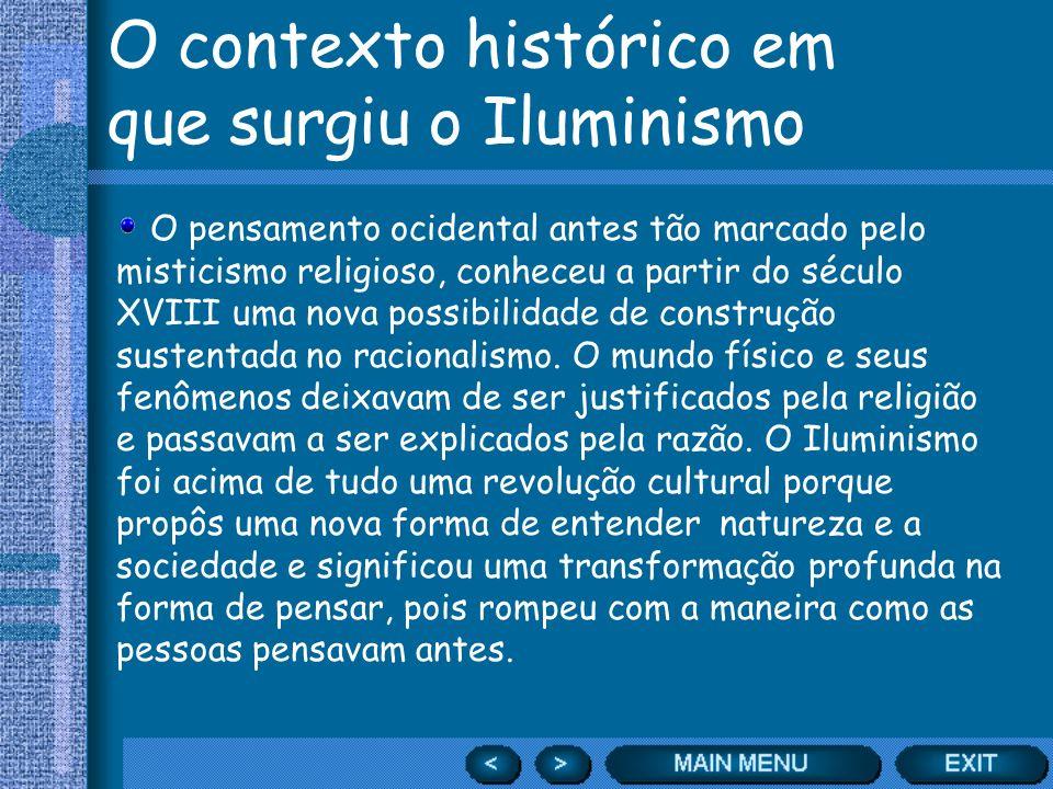 O contexto histórico em que surgiu o Iluminismo