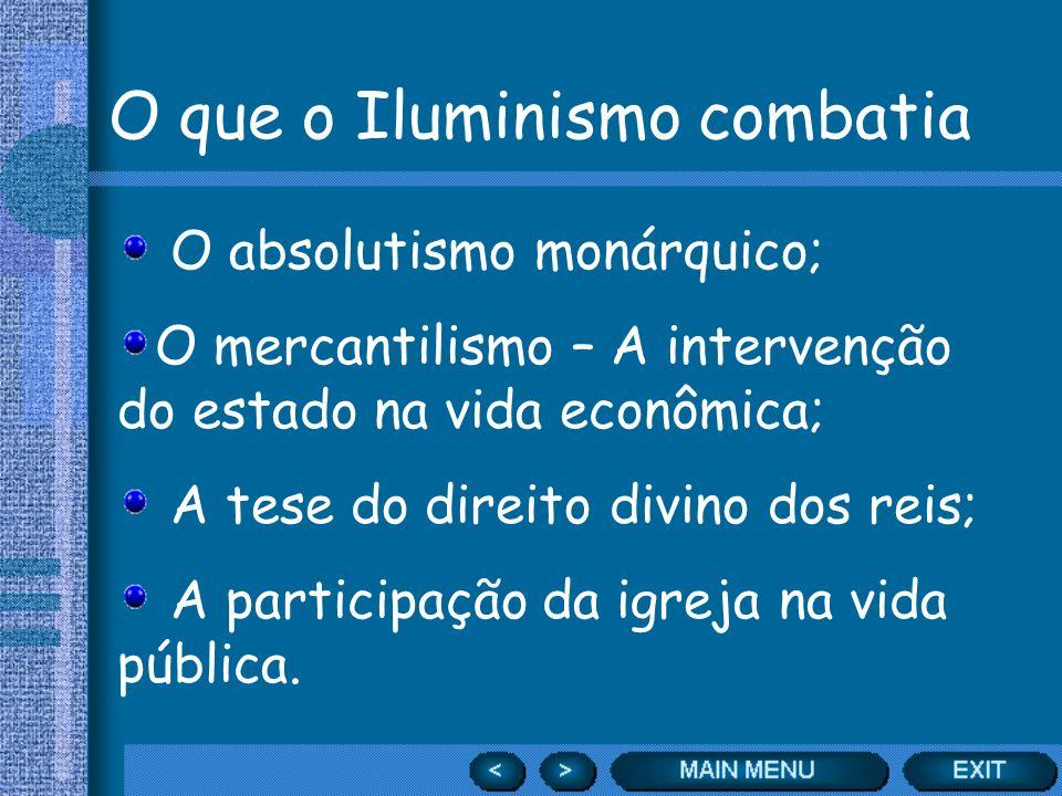O que o Iluminismo combatia