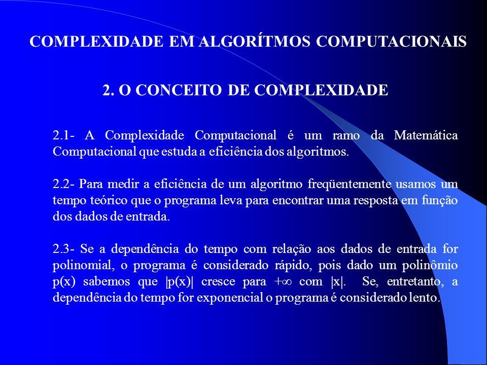 2. O CONCEITO DE COMPLEXIDADE