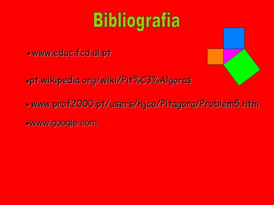 Bibliografia Bibliografia ●www.educ.fcd.ul.pt