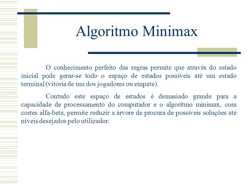 Algoritmo Minimax