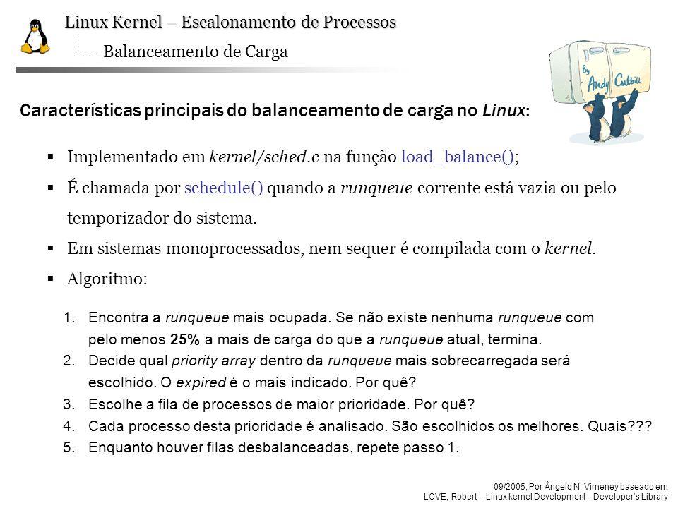 Características principais do balanceamento de carga no Linux: