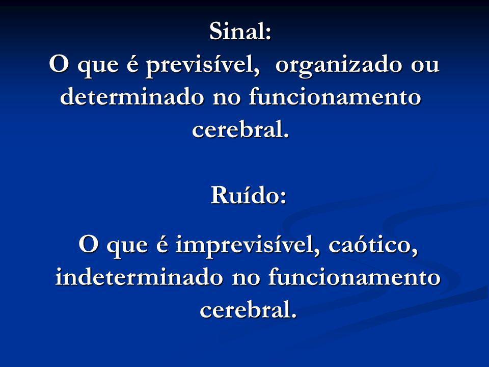 Sinal: O que é previsível, organizado ou determinado no funcionamento cerebral.
