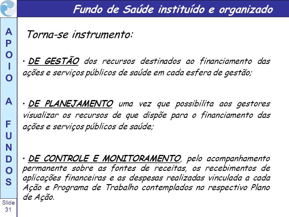 Fundo de Saúde instituído e organizado